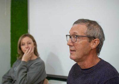 Gary explaining the basic principles of meditation