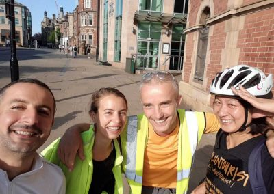 just before we set off from Sheffield to Liverpool on bikes (two days cycling)
